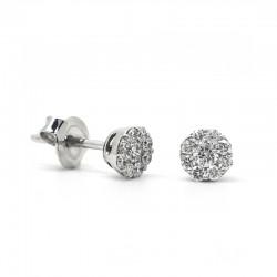 Pendientes Roseta Diamantes