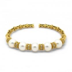 Pulsera Amarilla Diamantes...