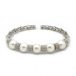 Pulsera Blanca Diamantes...
