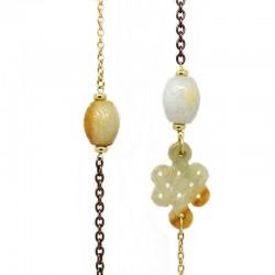 Collar Oro/Acero Jade