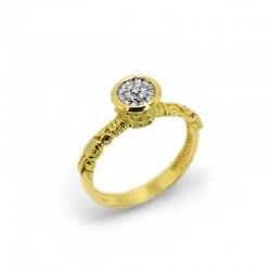 Anillo Etrusco Diamantes