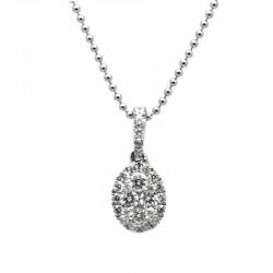 Colgante Oval Diamantes