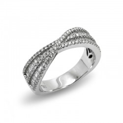 Anillo Cruzado Diamantes