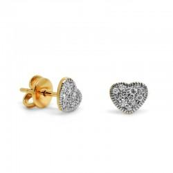 Pendientes Corazón Diamantes