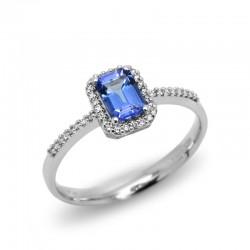 Anillo Tanzanita Diamantes