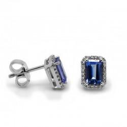 Pendientes Tanzanita Diamantes