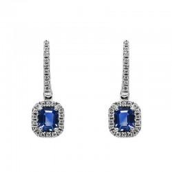 Pendientes Zafiro Diamantes