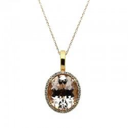Colgante Morganita Diamantes