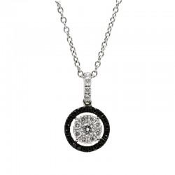 Colgante Diamantes White/Black