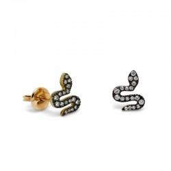 Pendientes Snake Diamantes