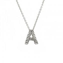"""Colgante Letra """"A"""" Diamantes"""
