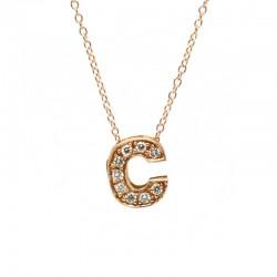 """Colgante Letra """"C"""" Diamantes"""