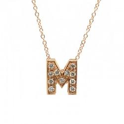 "Colgante Letra ""M"" Diamantes"