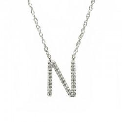 """Colgante Letra """"N"""" Diamantes"""