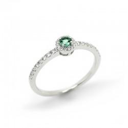 Anillo Diamantes Esmeralda