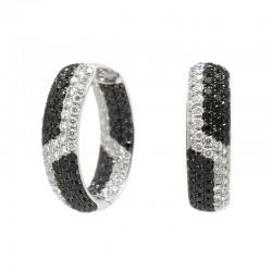 Aros Diamantes Black&White