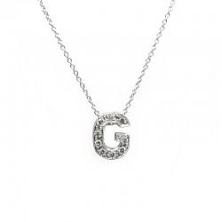 "Colgante Letra ""G"" Diamantes"