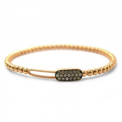 Pulsera Flex Diamantes Brown