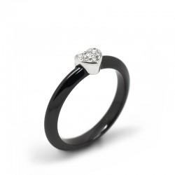 Anillo Cerámica Diamantes