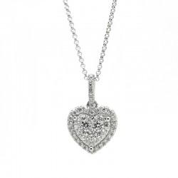 Colgante Corazón Diamantes