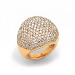 Anillo Bombé Diamantes